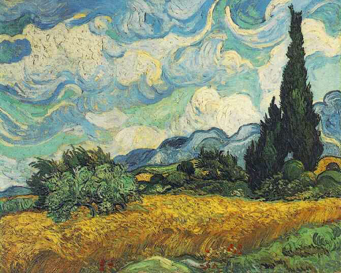 зацепило Wheat-field-with-cypresses